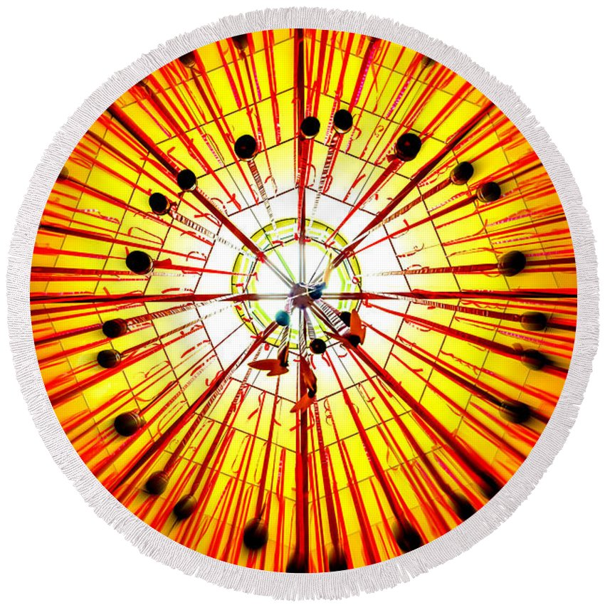 Star - Space Round Beach Towel featuring the photograph Diwali 4 by Jijo George