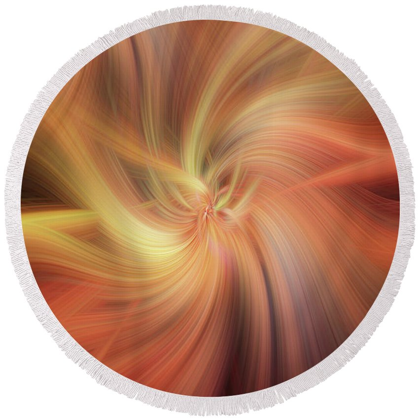 Jenny Rainbow Fine Art Photography Round Beach Towel featuring the photograph Doubled Vibrations Of Light by Jenny Rainbow