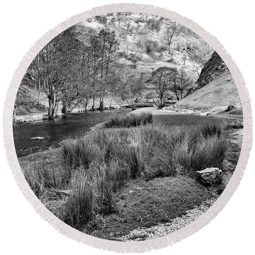 Dale Round Beach Towel featuring the photograph Dovedale, Peak District UK by John Edwards