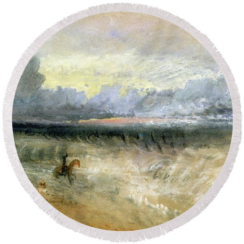 Dover Round Beach Towel featuring the painting Dover by Joseph Mallord William Turner