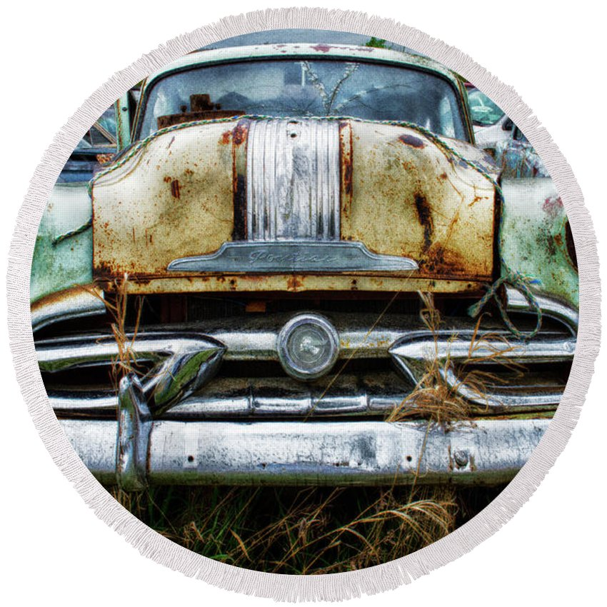 Antiques Round Beach Towel featuring the photograph Down In The Dumps 2 by Bob Christopher
