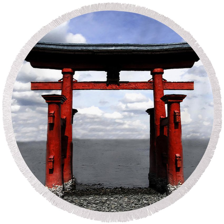 Japan Round Beach Towel featuring the photograph Dreaming In Japan by David Lee Thompson