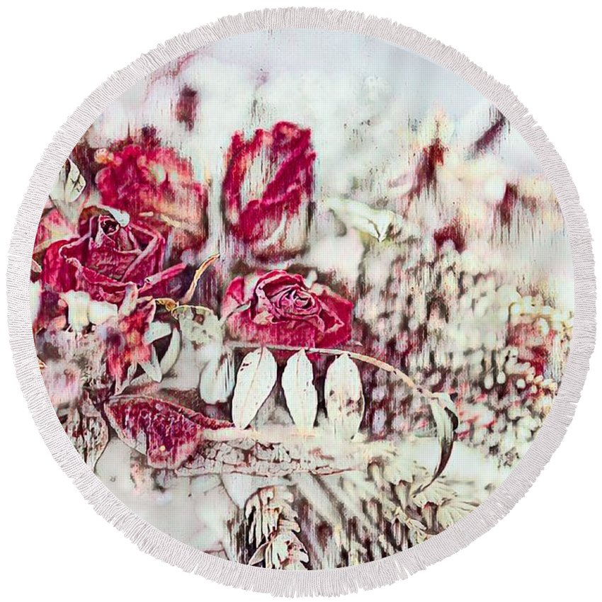 Dried Flowers Bouquet Round Beach Towel for Sale by Eva Lechner