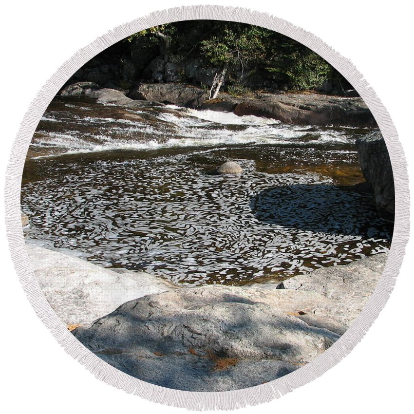 River Round Beach Towel featuring the photograph Drifting Dreams by Kelly Mezzapelle