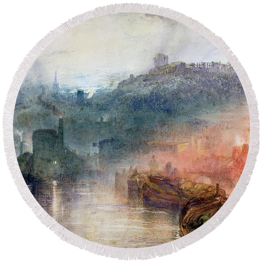 Dudley Round Beach Towel featuring the painting Dudley by Joseph Mallord William Turner