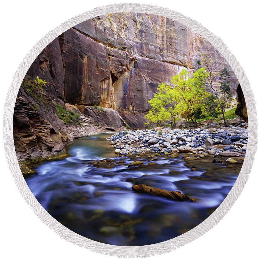 Zion National Park Round Beach Towels