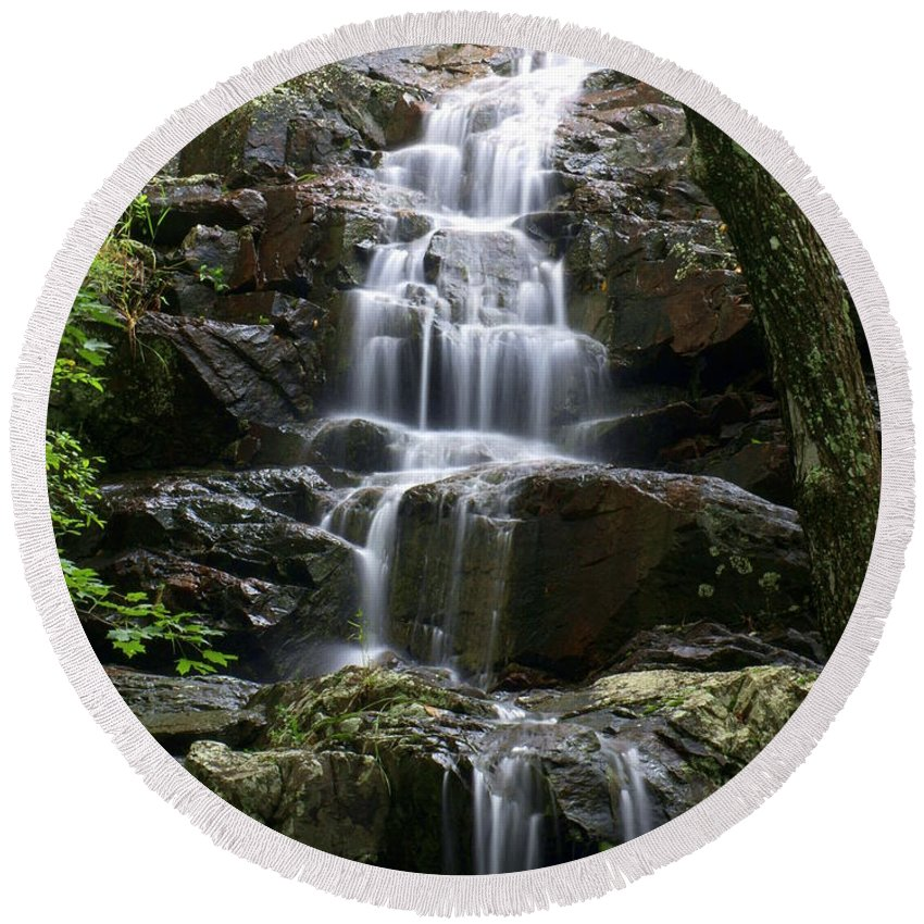 Waterfalls Round Beach Towel featuring the photograph E Falls by Marty Koch