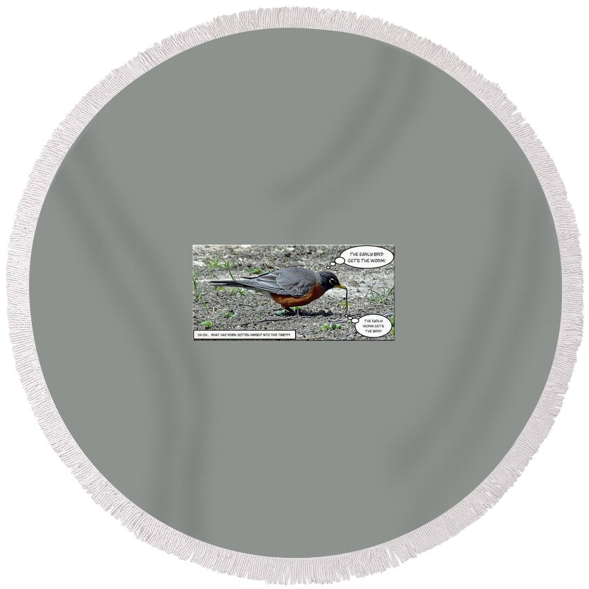 2d Round Beach Towel featuring the photograph Early Bird by Brian Wallace