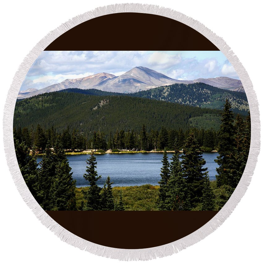 Colorado Round Beach Towel featuring the photograph Echo Lake Colorado by Marilyn Hunt