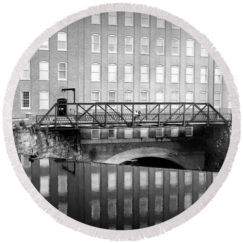 Mill Round Beach Towel featuring the photograph Echoes Of Mills Past by Greg Fortier
