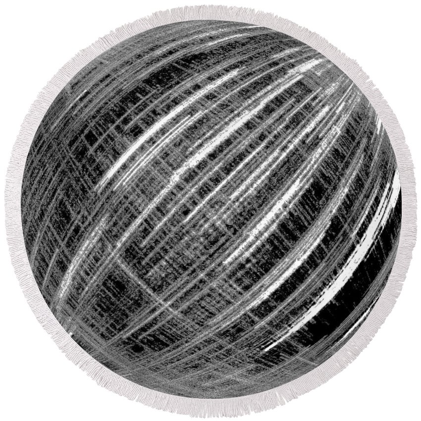 Black & White Round Beach Towel featuring the digital art Economic Bubble by Will Borden