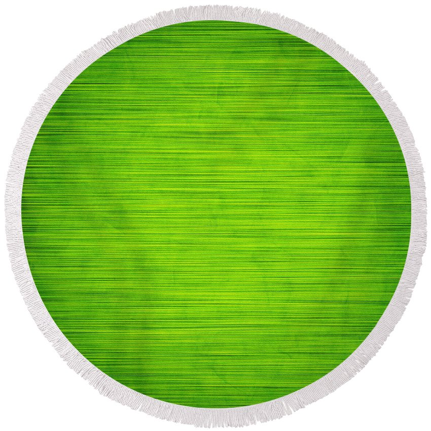Green Round Beach Towel featuring the photograph Elegant Green Abstract Background by Michal Bednarek