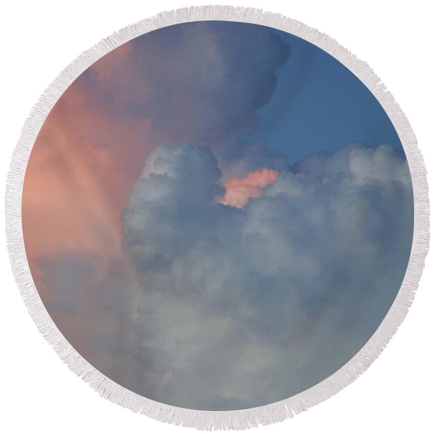 Clouds Round Beach Towel featuring the photograph Elephant In The Sky by Rob Hans