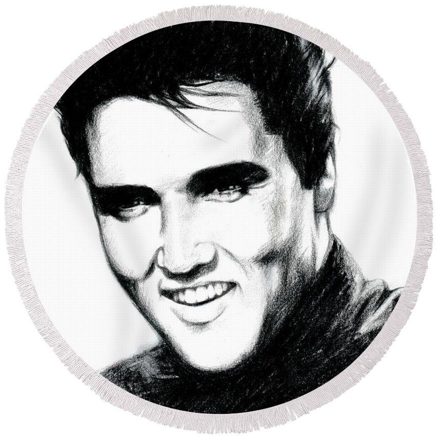 Elvis Presley Round Beach Towels