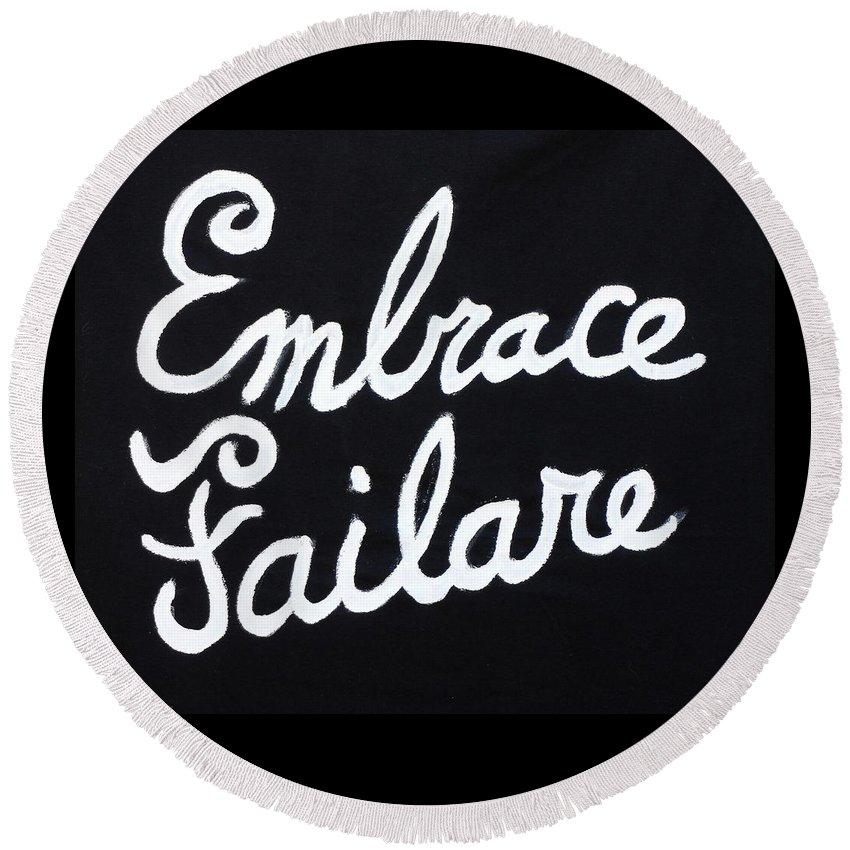 Failure Round Beach Towel featuring the painting Embrace Failare by John Kilduff