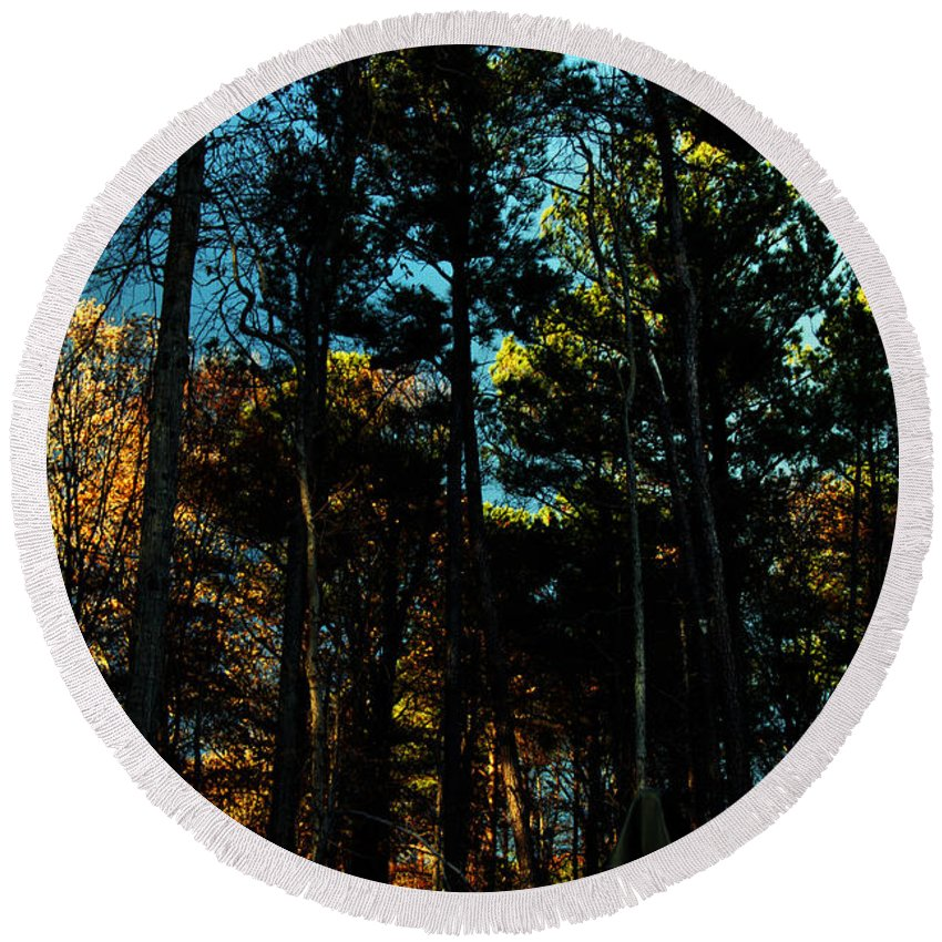 Clay Round Beach Towel featuring the photograph Enchanted Forest by Clayton Bruster