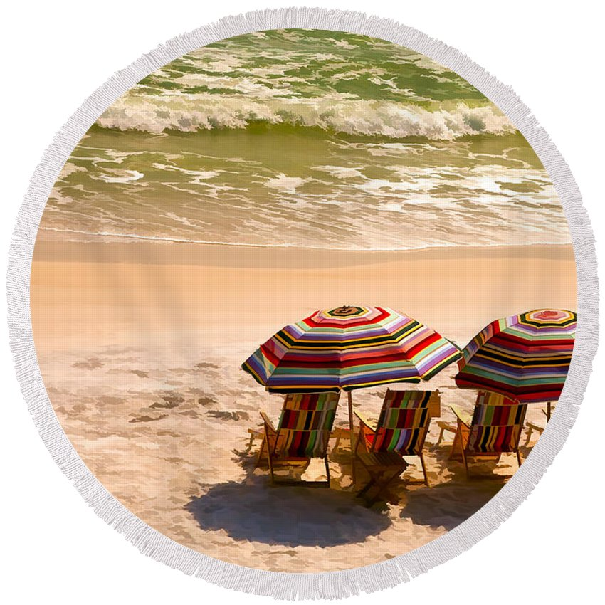 Alys Beach Round Beach Towel featuring the photograph Escape by Janet Fikar