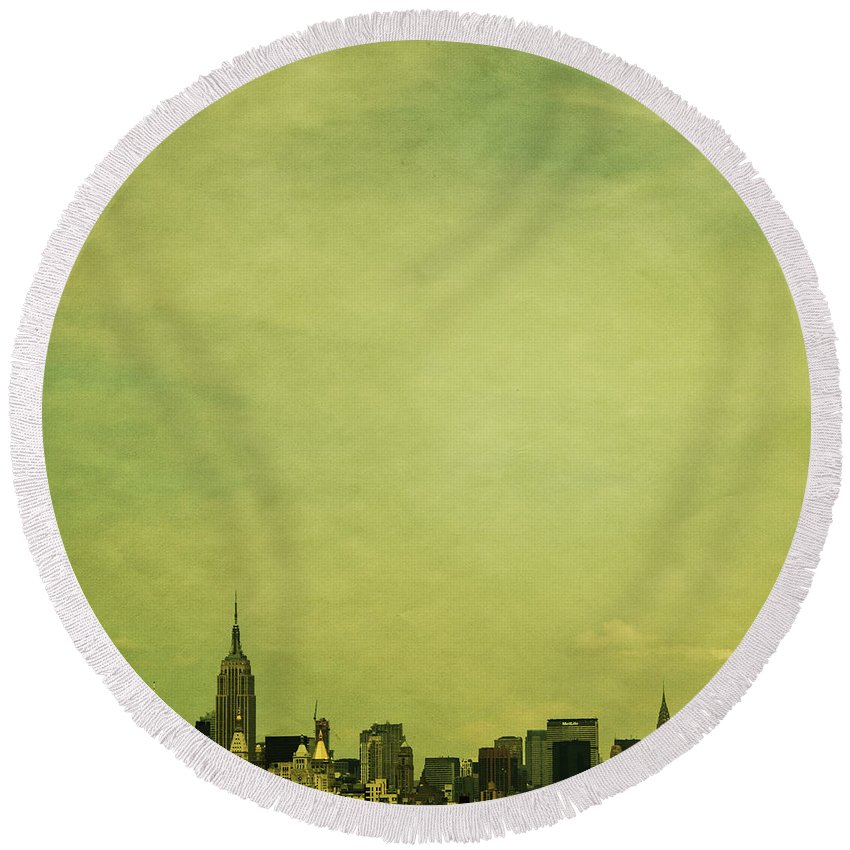 New York City Photographs Round Beach Towels