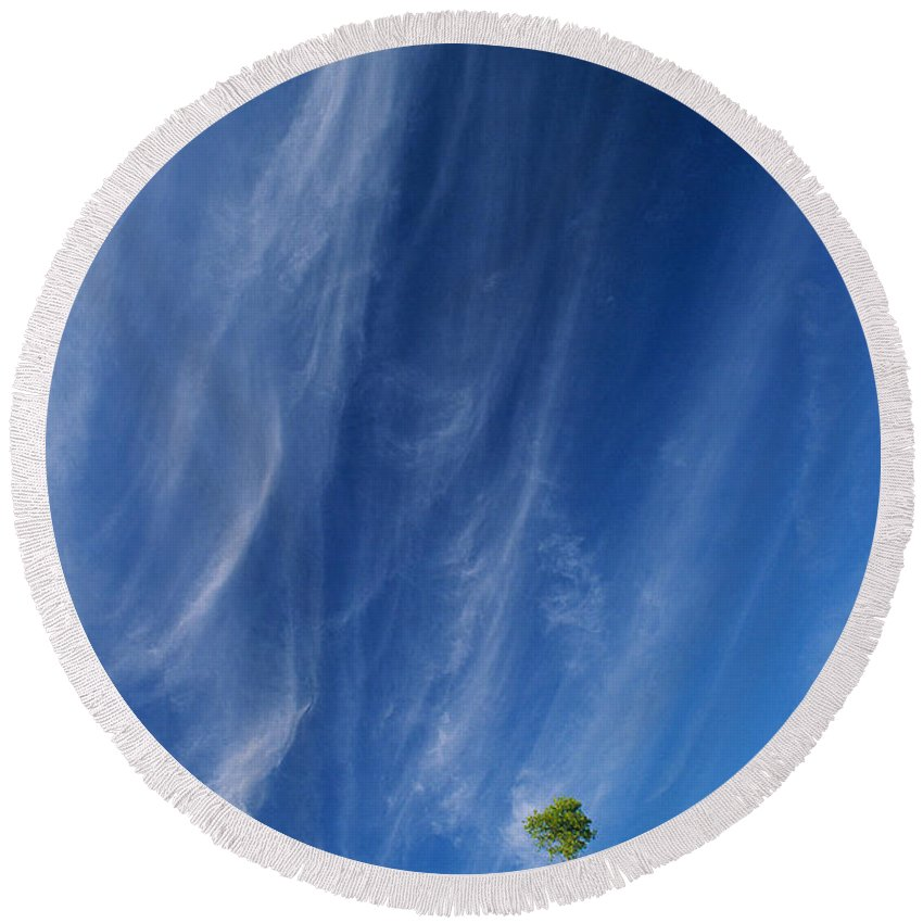 Lake Superior Round Beach Towel featuring the photograph Essence Of One   by Doug Gibbons