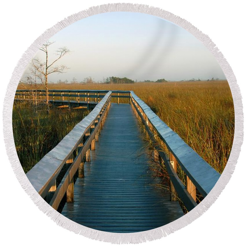 Everglades National Park Florida Round Beach Towel featuring the photograph Everglades National Park by David Lee Thompson