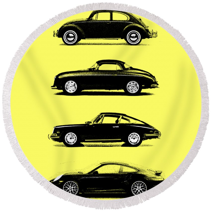 Volkswagen Photographs Round Beach Towels