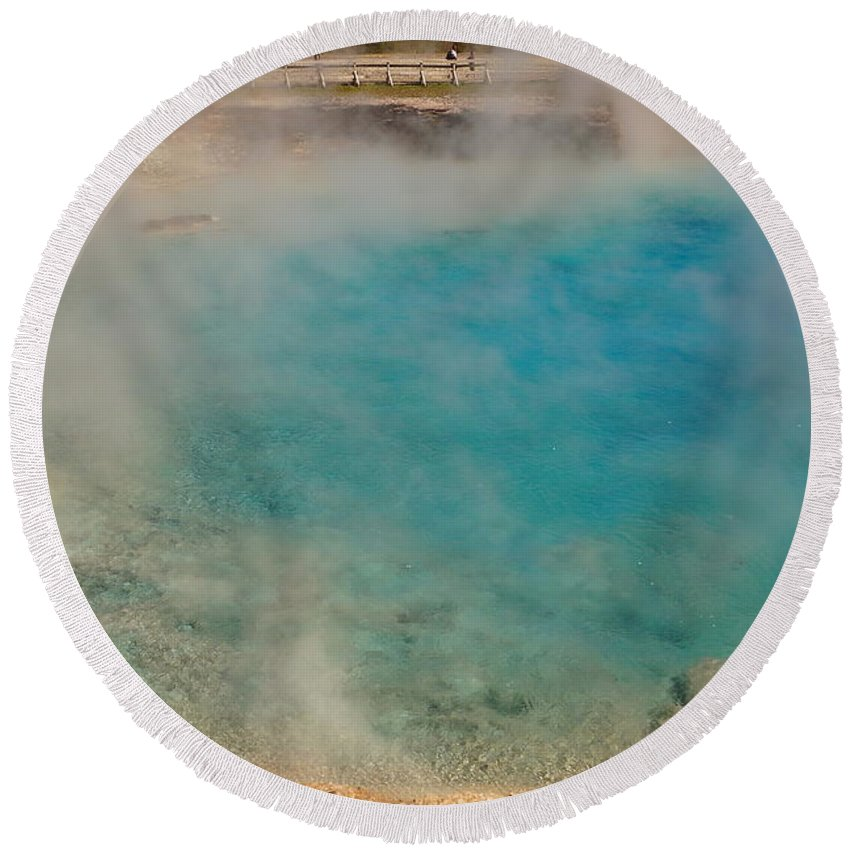 Excelsior Round Beach Towel featuring the photograph Excelsior Pool by Beth Collins