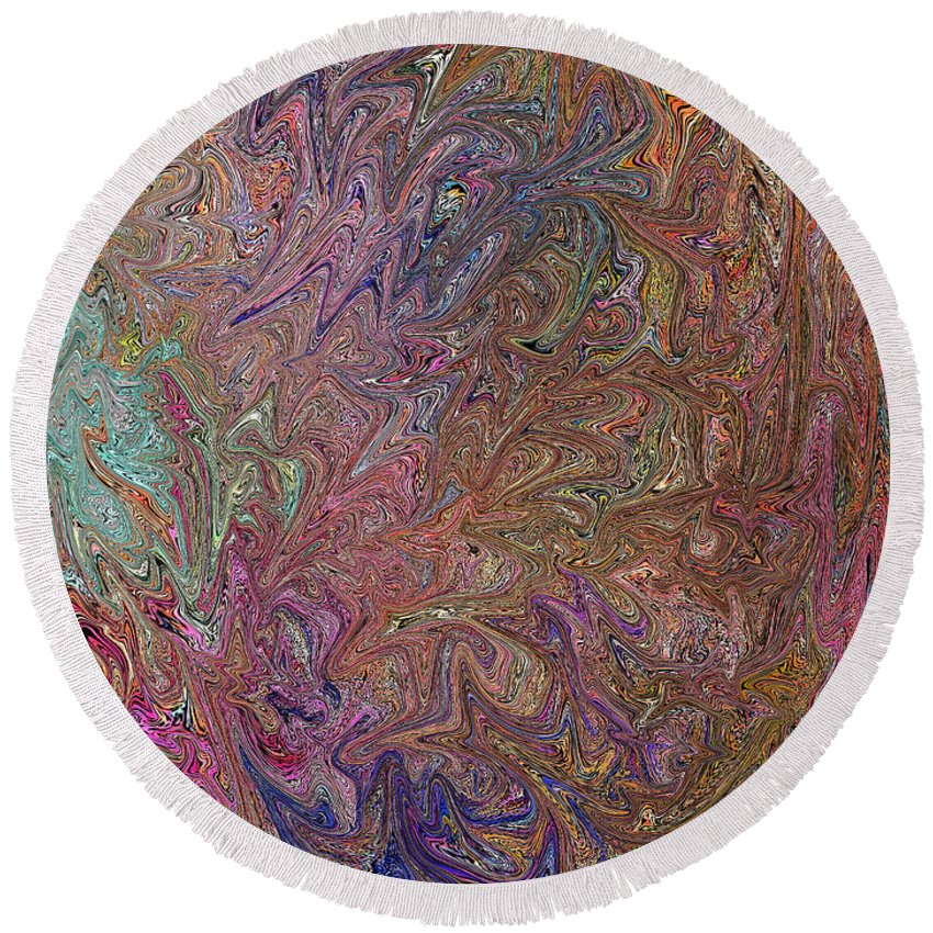 Fairy Round Beach Towel featuring the painting Fairy Wings- Digital Art by Kathy Symonds