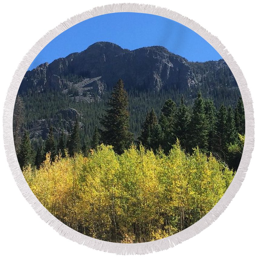Estes Park Round Beach Towels