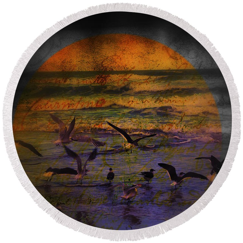 Birds Round Beach Towel featuring the photograph Fantasy Wings by Susanne Van Hulst