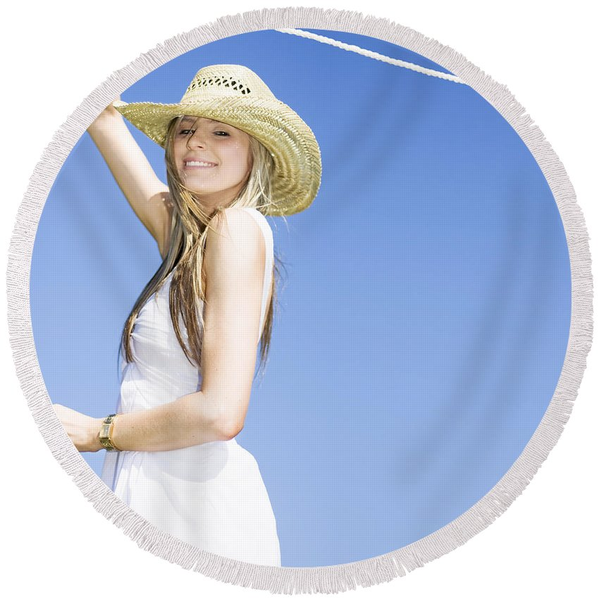 Adult Round Beach Towel featuring the photograph Farmyard Life by Jorgo Photography - Wall Art Gallery