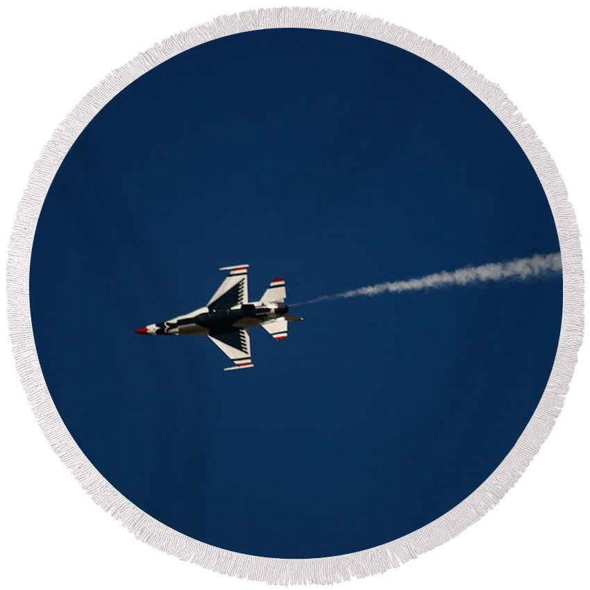 Air Force Round Beach Towel featuring the photograph Fast And Loose by Chandra Nyleen