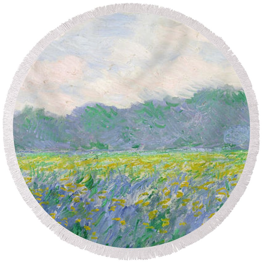Meadow Round Beach Towels