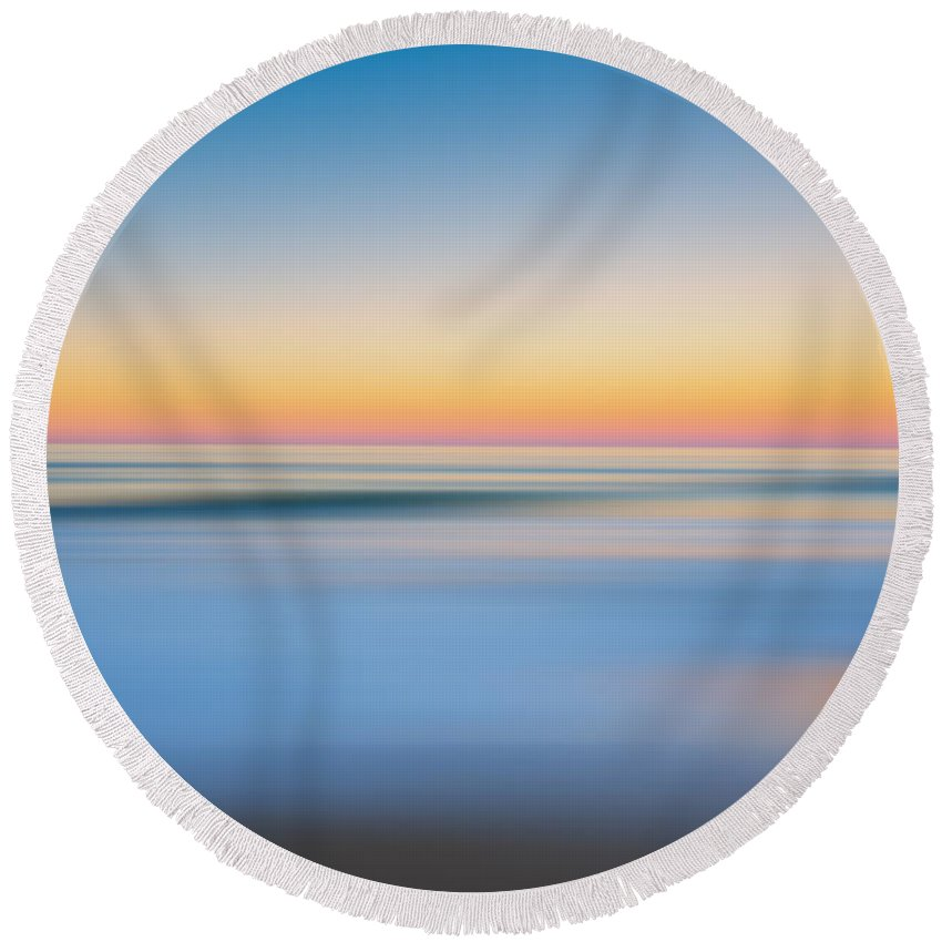 Nags Heah Round Beach Towel featuring the photograph Finding Bliss Abstract Seascape by Michael Ver Sprill
