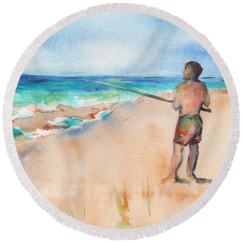 Designs Similar to Fishing At The Beach Watercolor