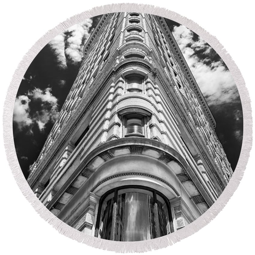 Flatiron Building Round Beach Towel featuring the photograph Flatiron Building Nyc by Alissa Beth Photography