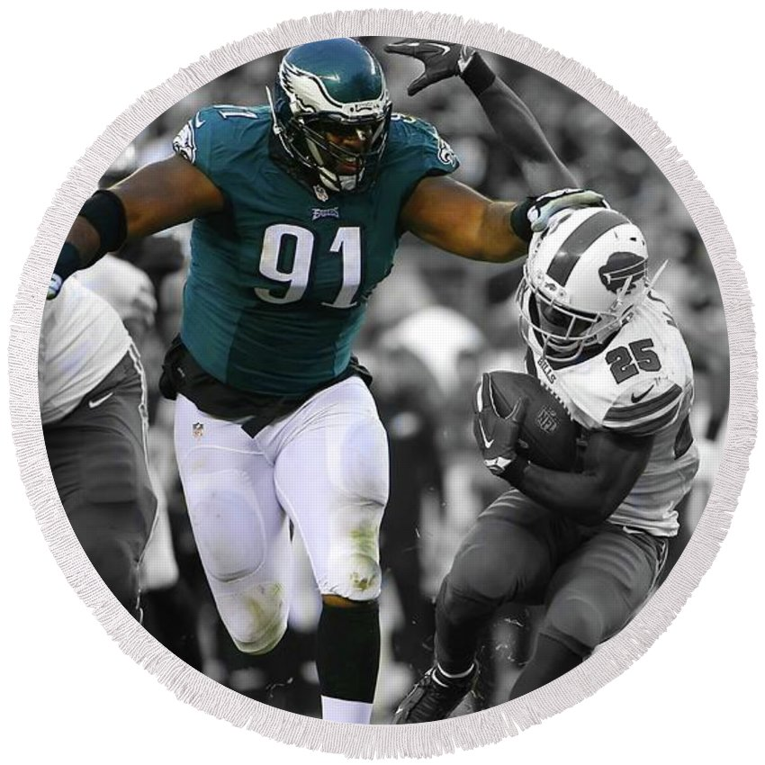best service 0bc62 6bfde Fletcher Cox Eagles Super Bowl Round Beach Towel