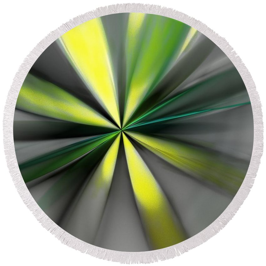 Digital Painting Round Beach Towel featuring the digital art Floral 2-19-19 by David Lane