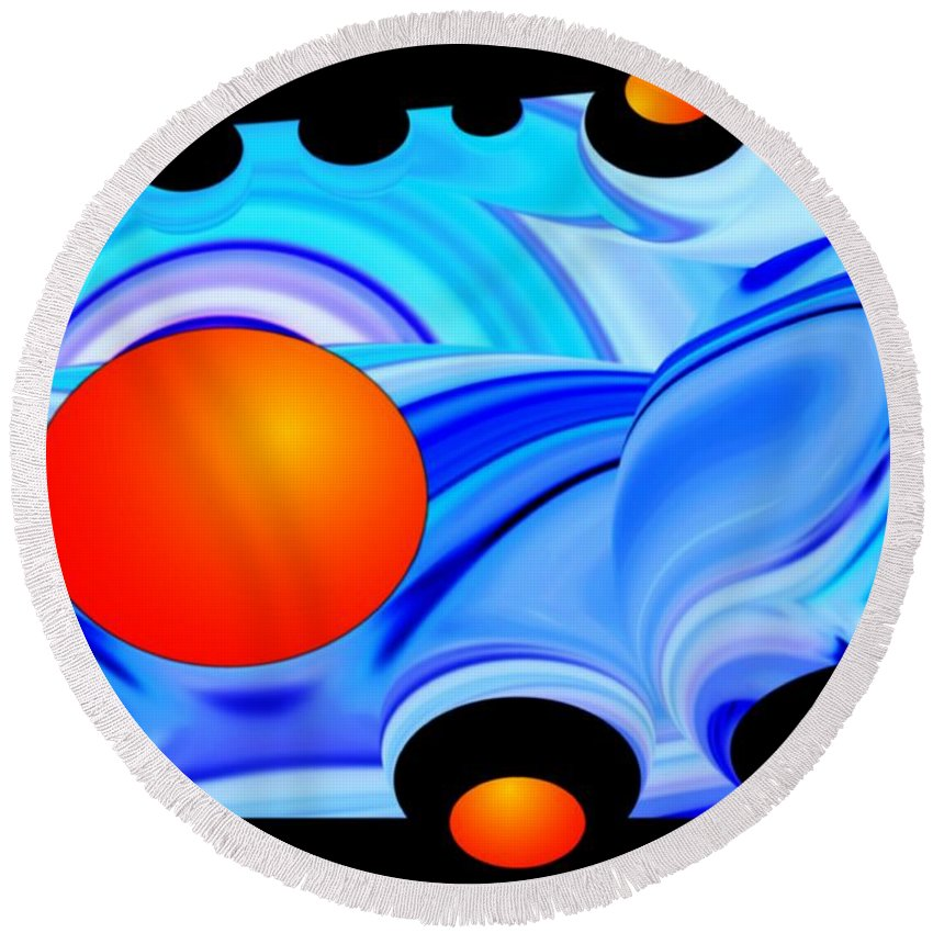 Colorful Round Beach Towel featuring the photograph Florida Oranges by Dale Crum