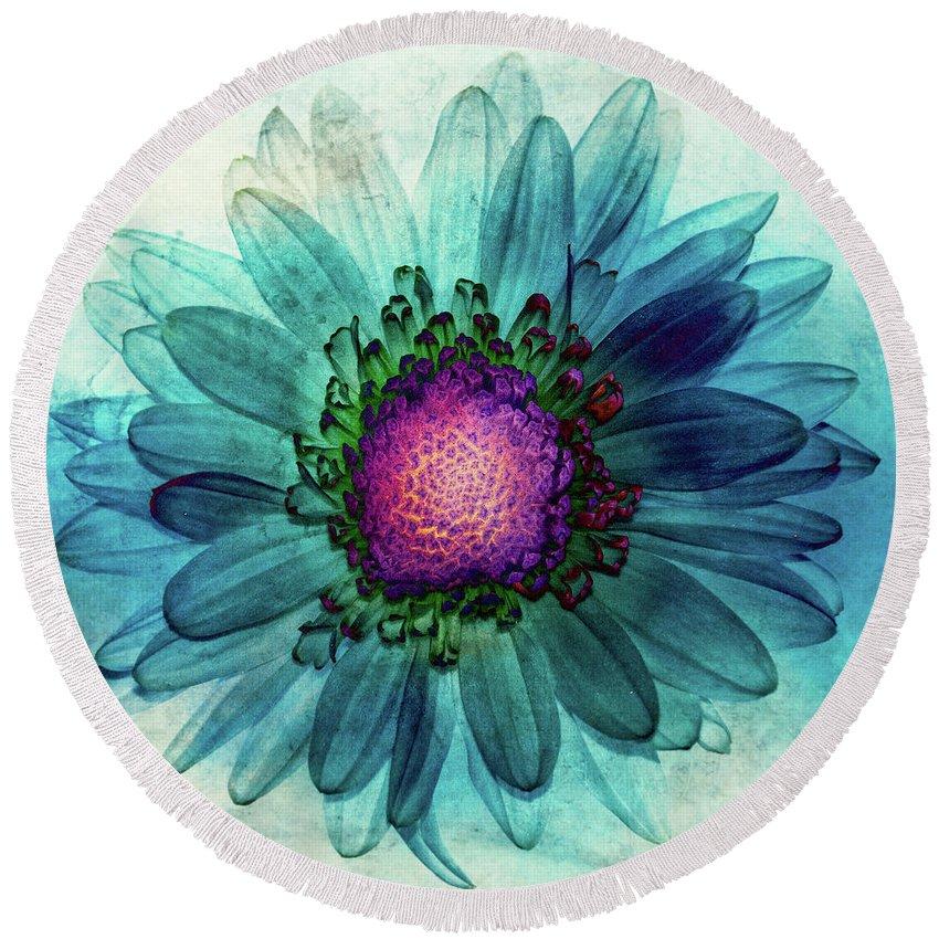 Flower Round Beach Towel featuring the digital art Flower Power by Jerri Moon
