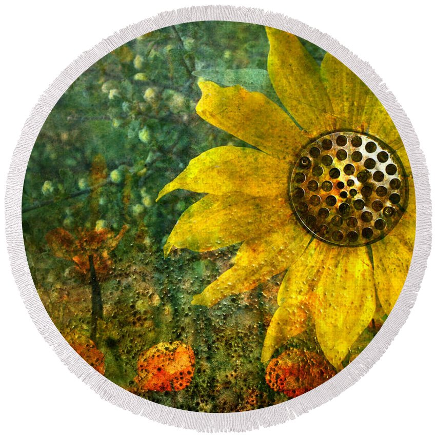 Flowers Round Beach Towel featuring the photograph Flowers For Fun by Tara Turner