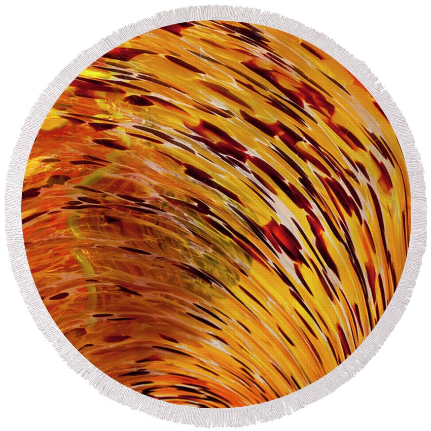 Blown Glass Round Beach Towel featuring the photograph Flushed by Janet Fikar