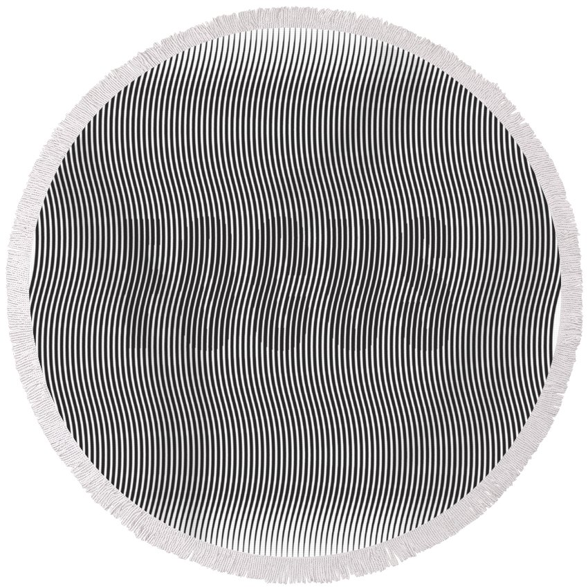 Round Beach Towel featuring the digital art Focus by Eye Realized
