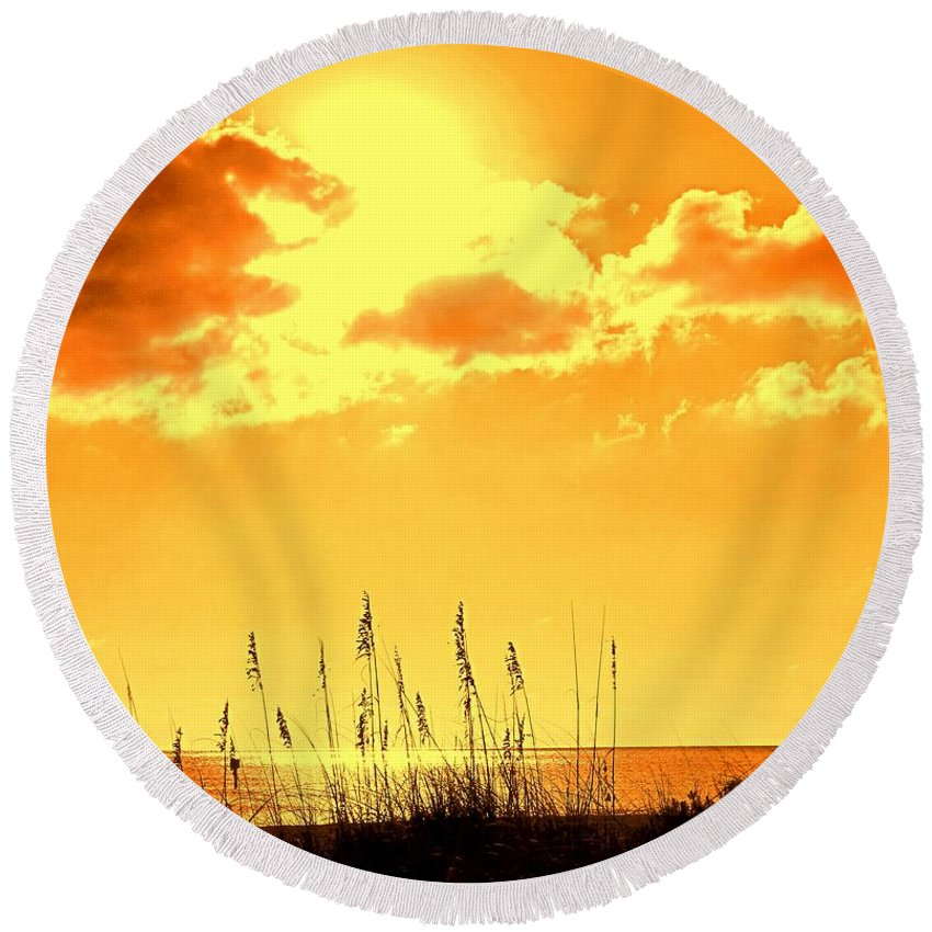 Sun Round Beach Towel featuring the photograph For When Winter Gets To You by Ian MacDonald