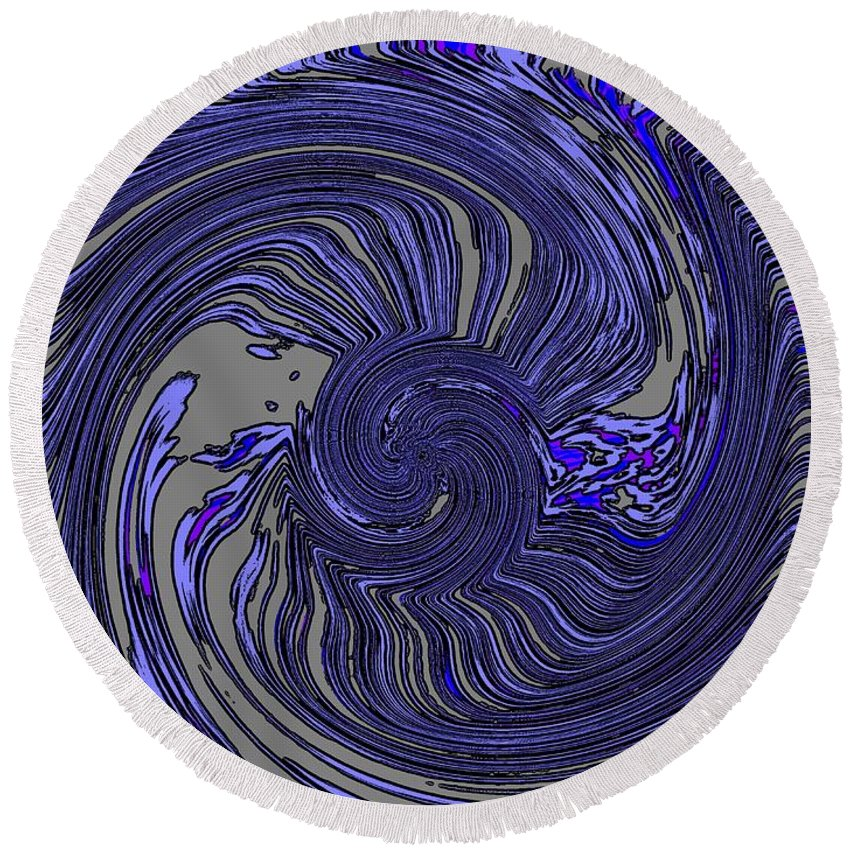 Force Round Beach Towel featuring the digital art Force Of Nature by Tim Allen