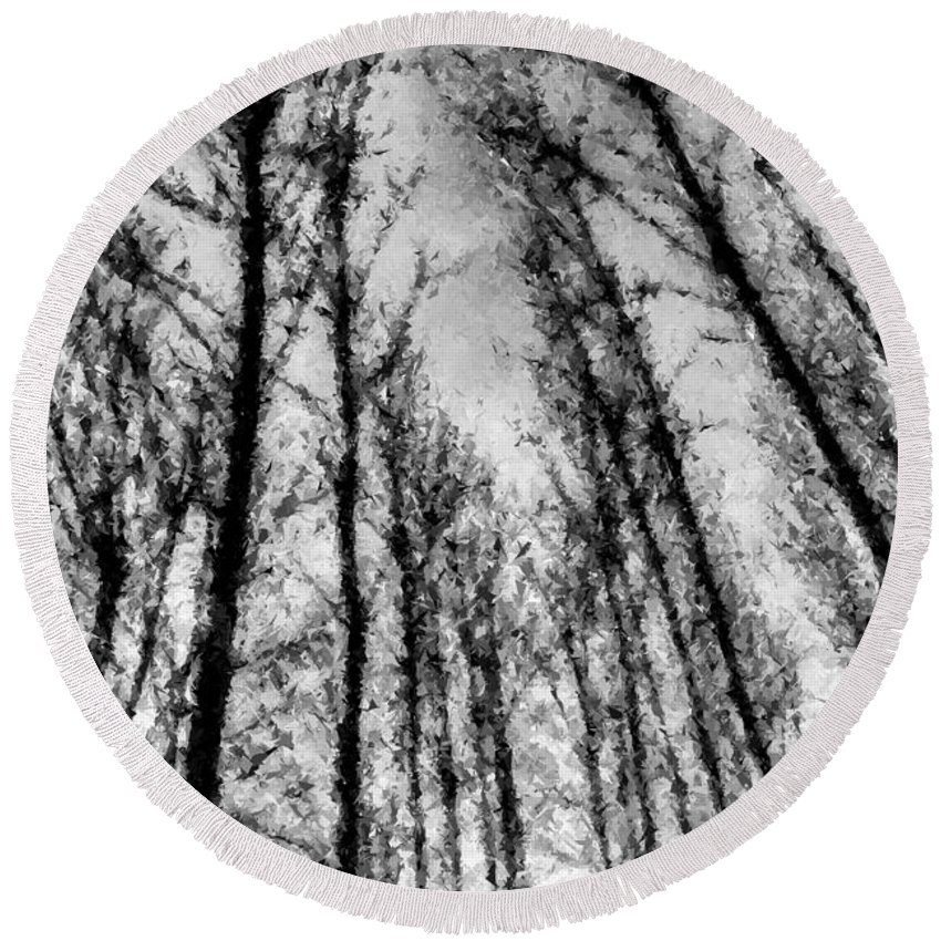Pastel Trees Round Beach Towel featuring the photograph Forest Pastel by David Pyatt