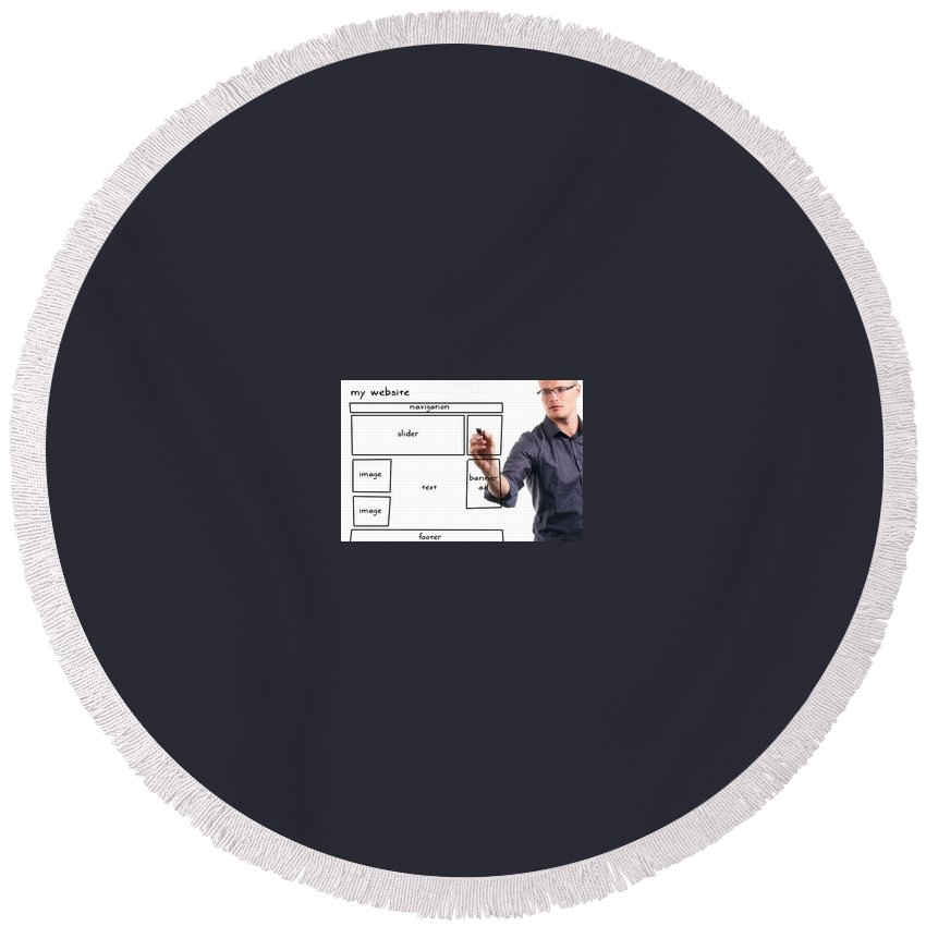 Round Beach Towel featuring the photograph Foto Pruebatoria by Chacho Piniera