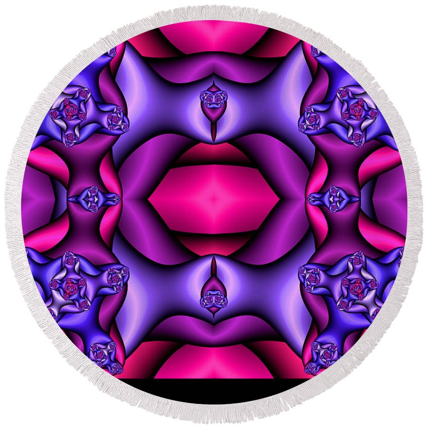 Round Beach Towel featuring the digital art Fractals By Design by Clayton Bruster