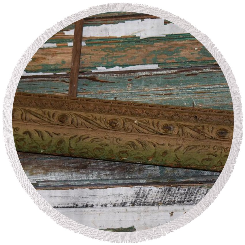 Frame Round Beach Towel featuring the photograph Framed by Dennis Knasel