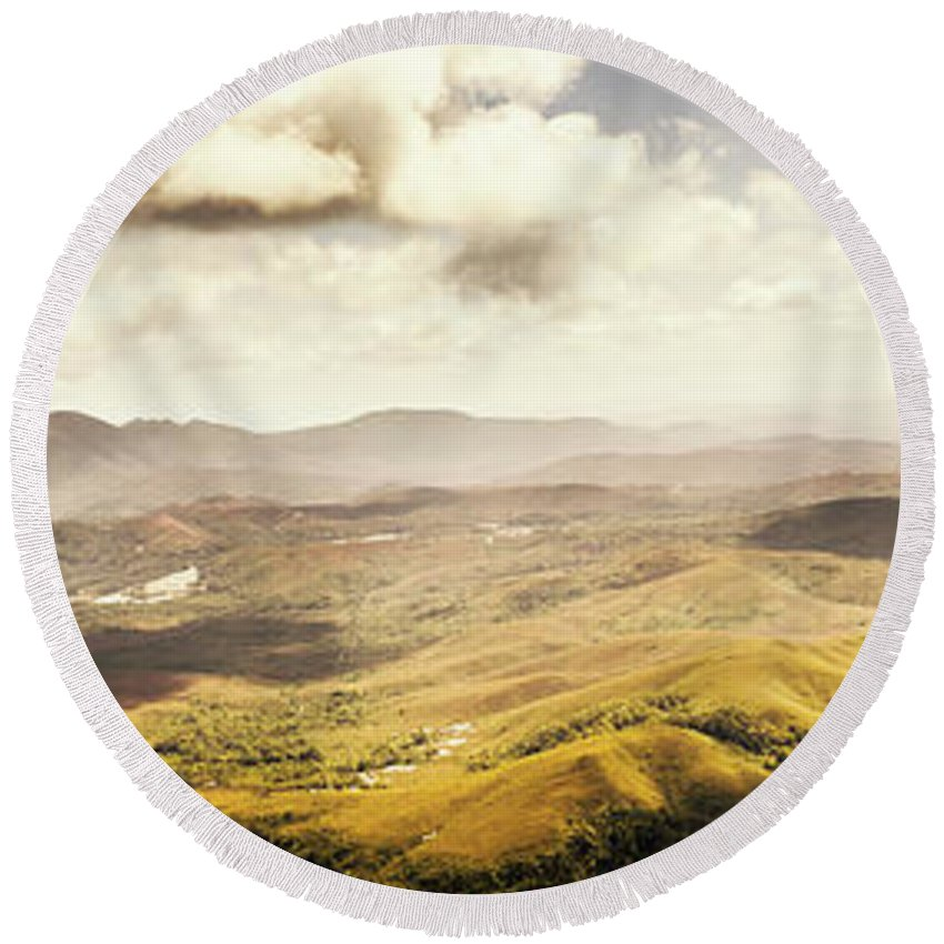 Magnificent Round Beach Towel featuring the photograph From Zeehan To Trial Harbour by Jorgo Photography - Wall Art Gallery