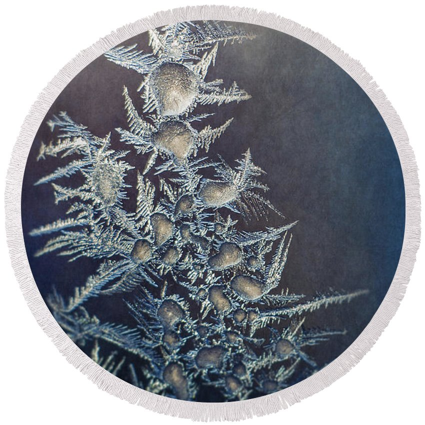 Frost Photographs Round Beach Towels